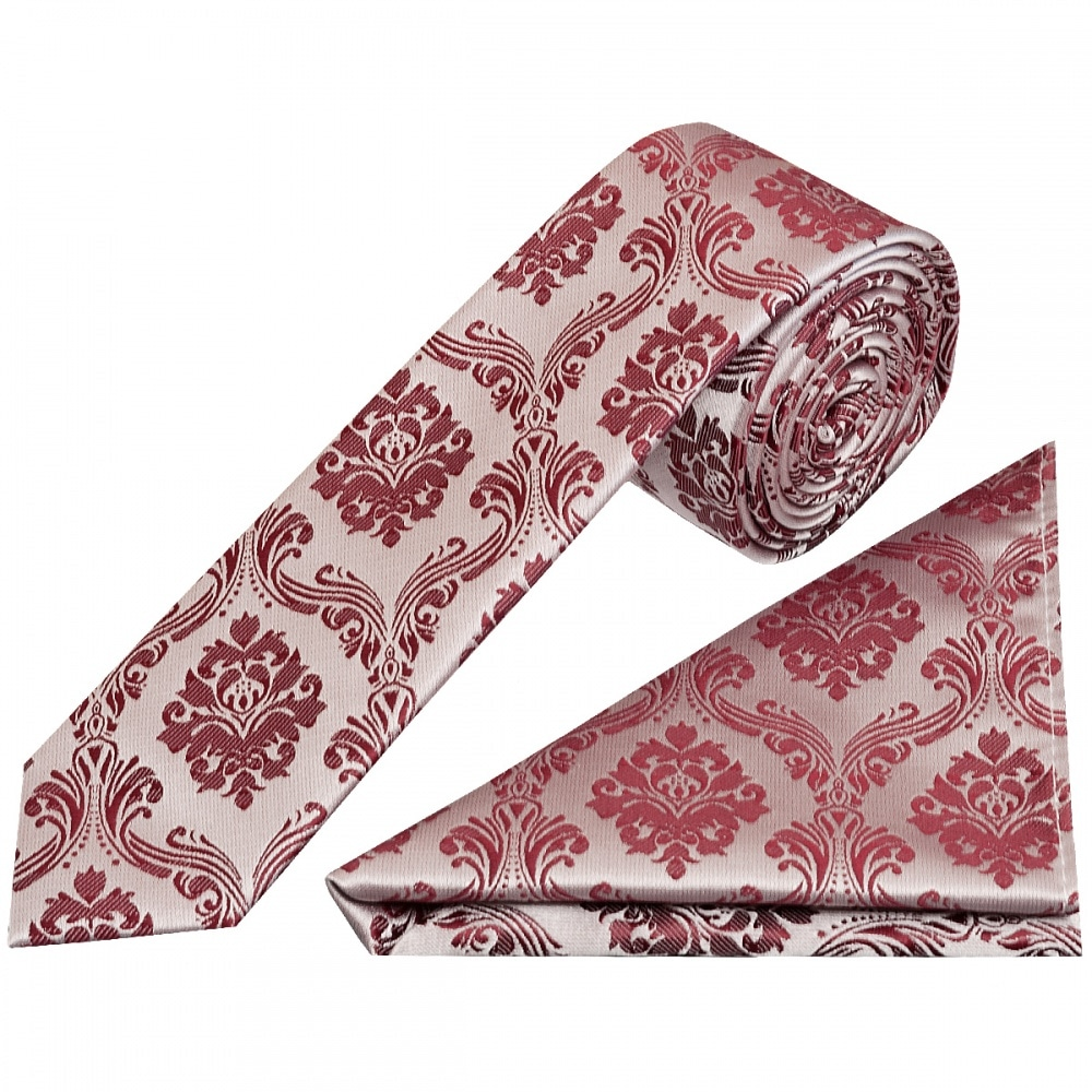 320eed3dda675 Boys Burgundy Paisley Tie and Handkerchief   Childrens Tie Hanky Set