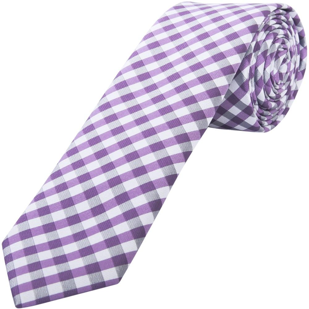 mens lilac checked tie tie wedding tie