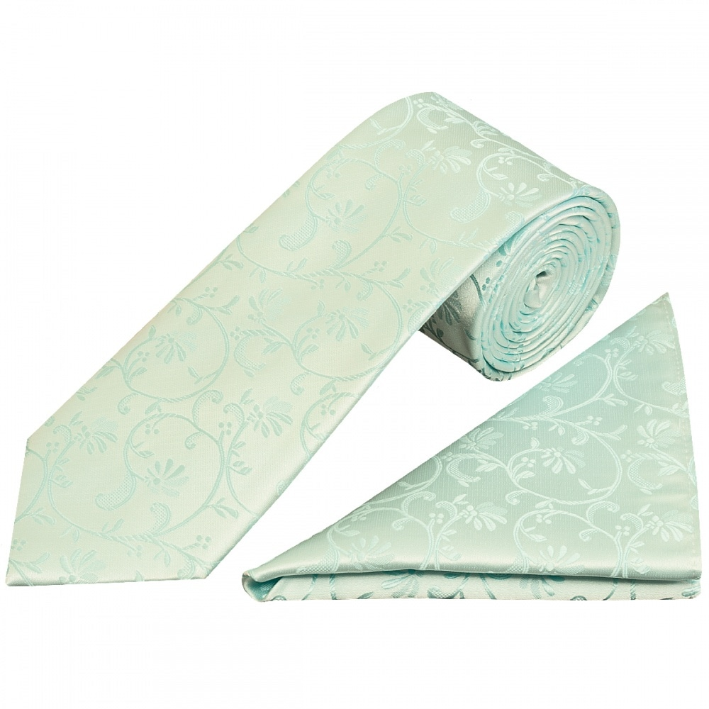 UK Bow Tie and Pocket Square perfect for weddings Teal Green Mens Floral Tie