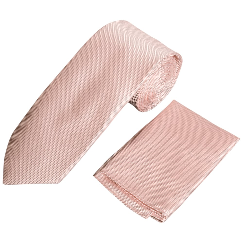 c1460aee071e Pale Pink Classic Tie and Handkerchief Set | Mens Tie | Wedding Tie