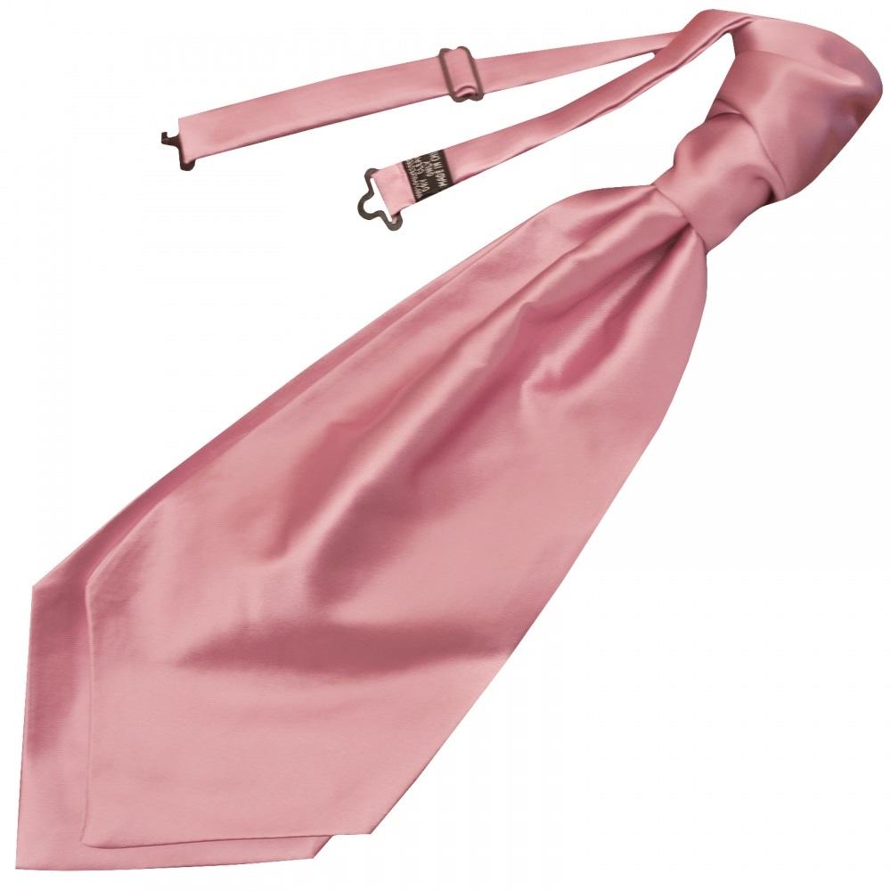 e2c8f8732027 Plain Dusty Pink Satin Mens Cravat Tie