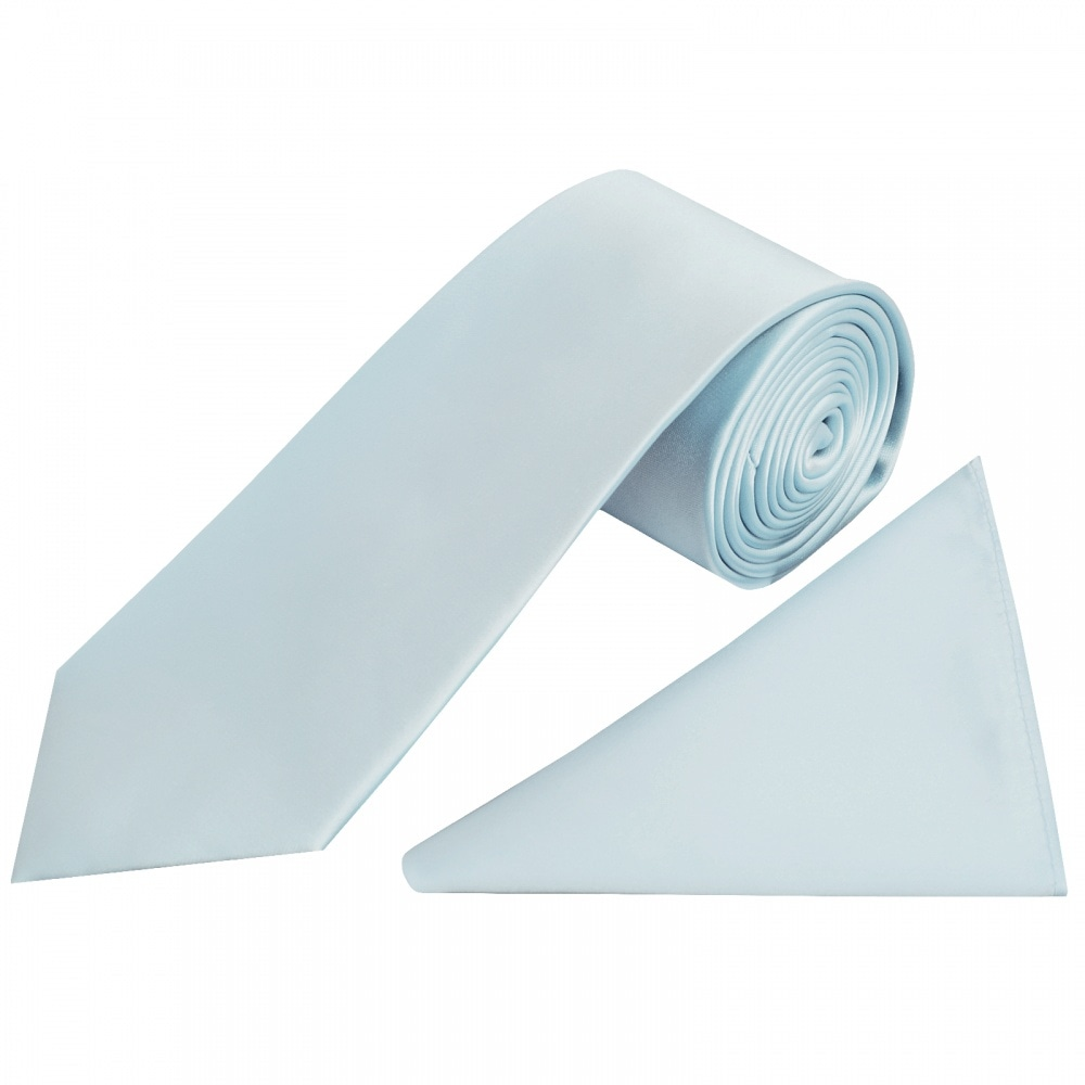 Plain Satin Handkerchief baby-blue