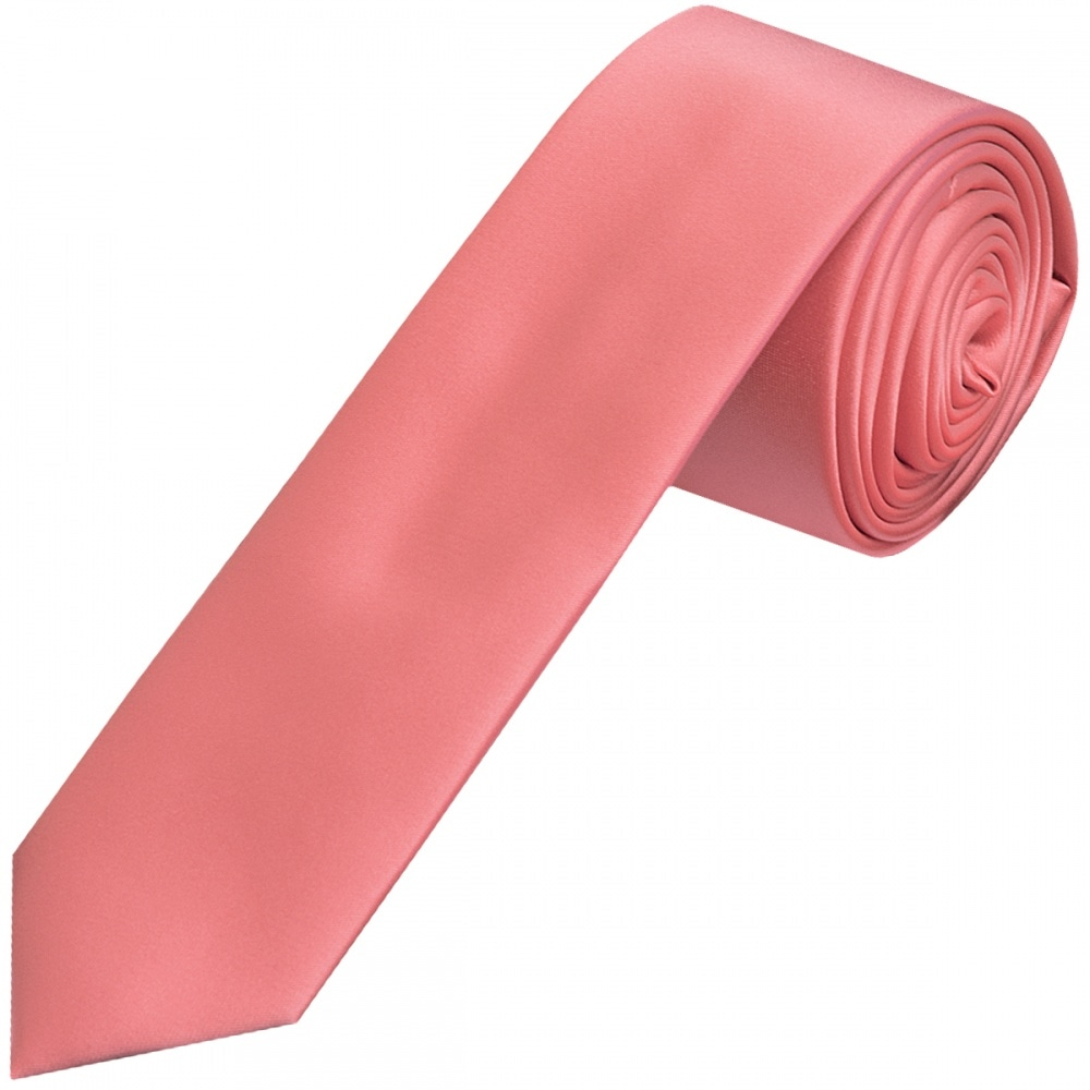 Express occasion collection skinny tie coral pink