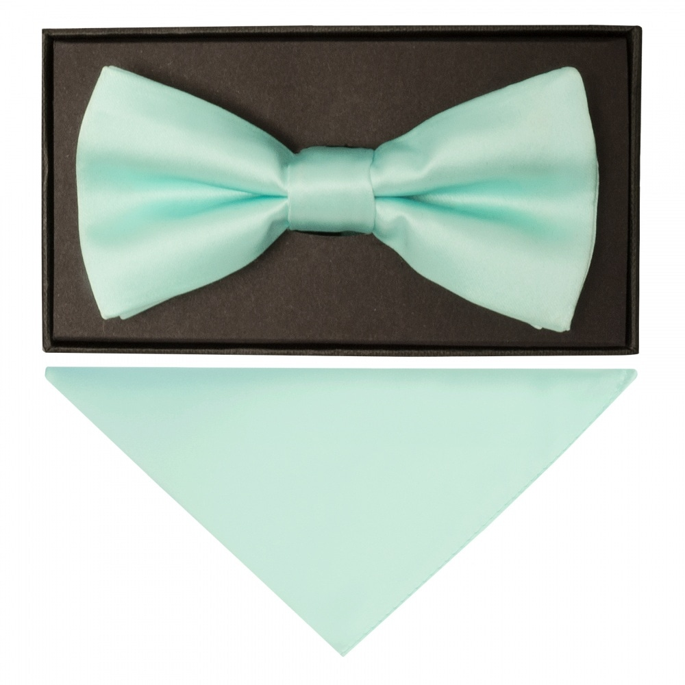 bd93daa05d2d Mint Green Mens Bow Tie| Dickie Bow Tie | Bow Tie and Handkerchief Set