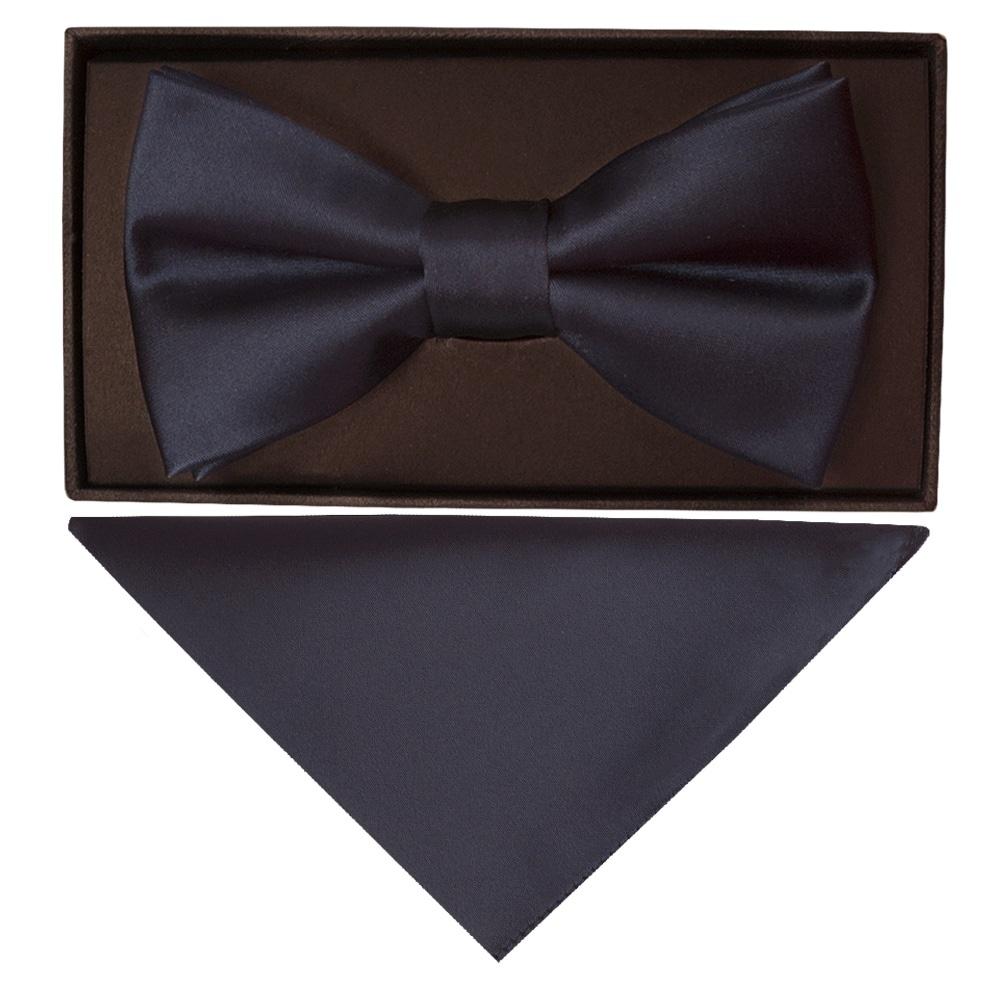 Hanky /& Cufflinks Set Mens Quality Smart Formal Classic Satin Bow Tie Pink