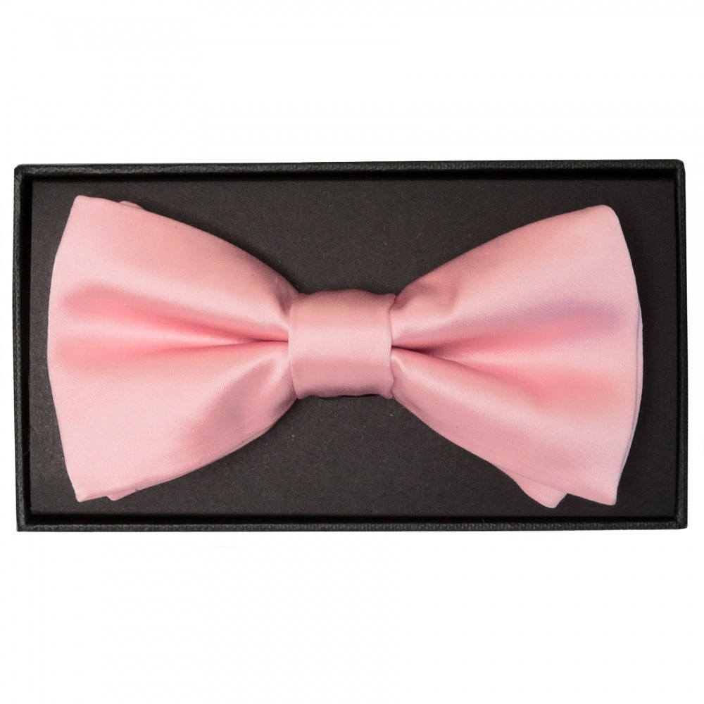 f52c612ed664 Plain Pink Mens Bow Tie | Bow Tie | Dickie Bow Wedding Ties Prom Ties
