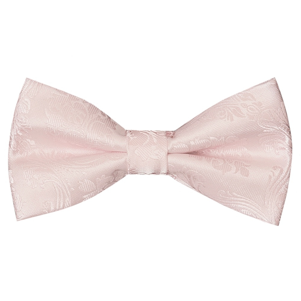24a6448a8233 Pre Tied Blush Pink Paisley Boys Bow Tie Age 4-7