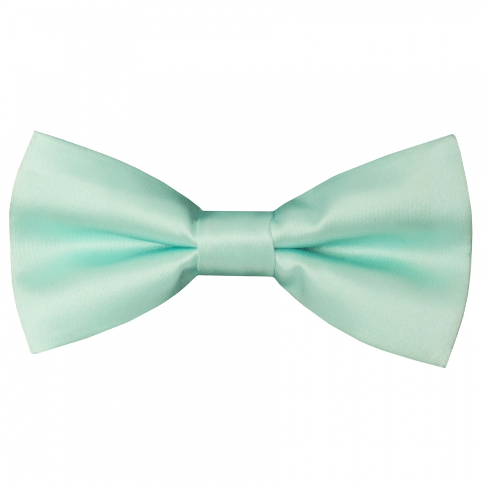 2b046d4dc4178 Mint Green Boys Bow Tie | Kids Satin Tie | Childrens Wedding Tie