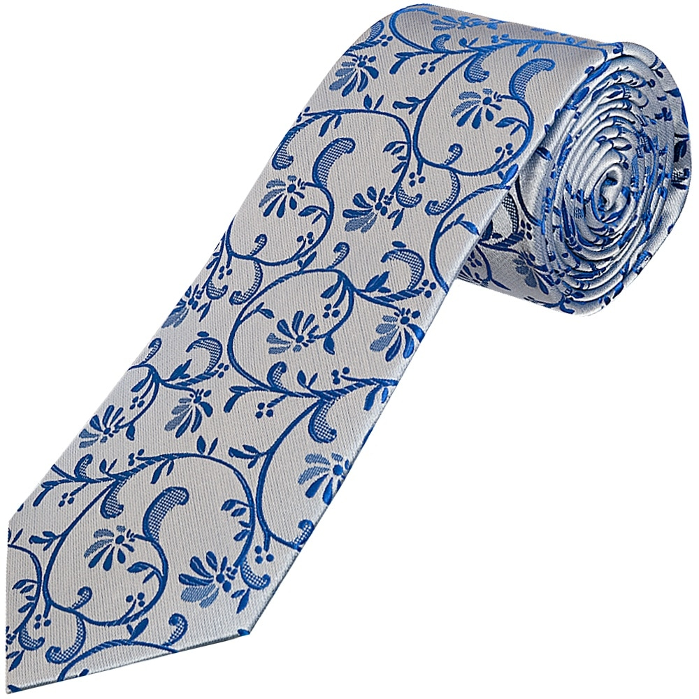 f509e7326f17 Royal Blue Floral Classic Tie | Regular Tie | Wedding Tie Prom Tie
