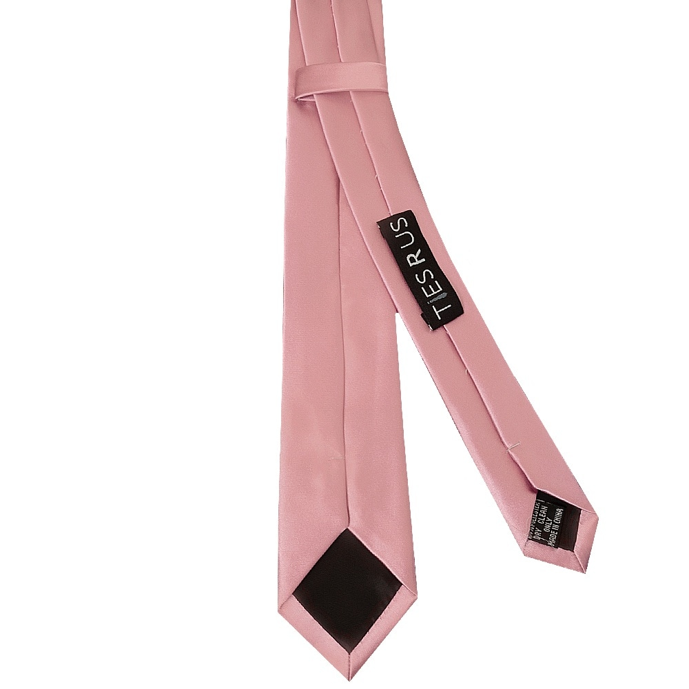 TIES R US Dusty Pink Floral Skinny Boys Tie and Pocket Square Set