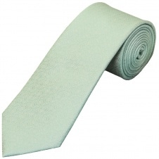 Green Self Floral Textured Silk Classic Men's Tie