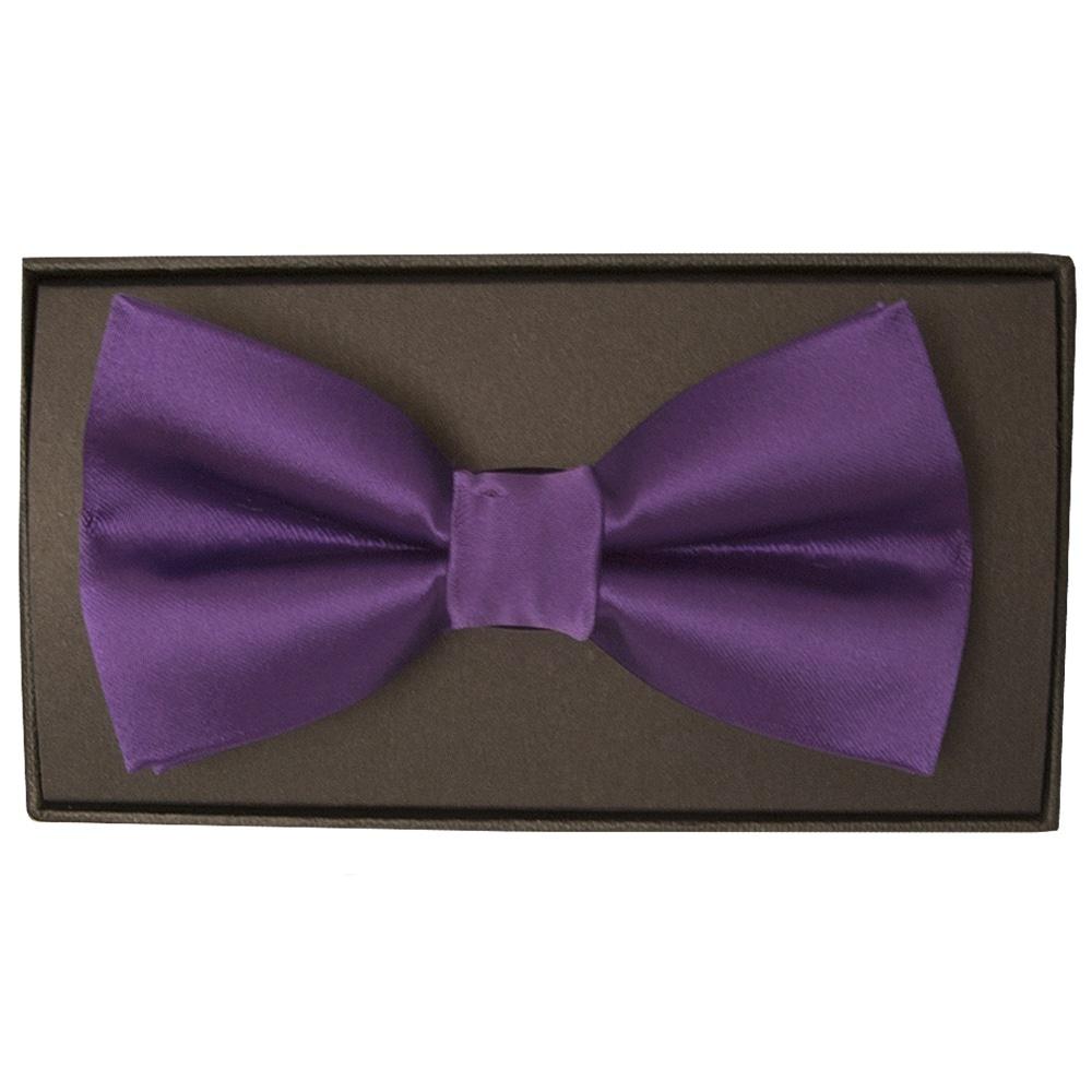 66ab2762241e Handmade Men's Purple Satin Bow Tie   Bow Tie   Dickie Bow Wedding Tie
