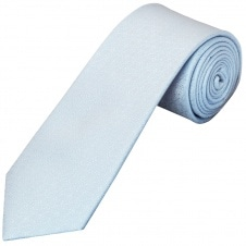 Light Blue Self Floral Textured Silk Classic Men's Tie