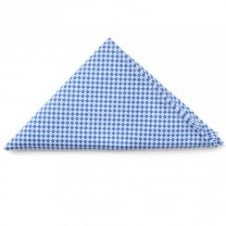 Light Blue White Check Pocket Square