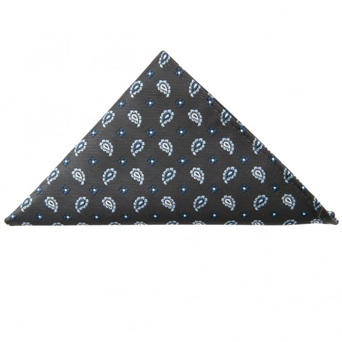 Ties R us Navy Mini Paisley Pocket Square