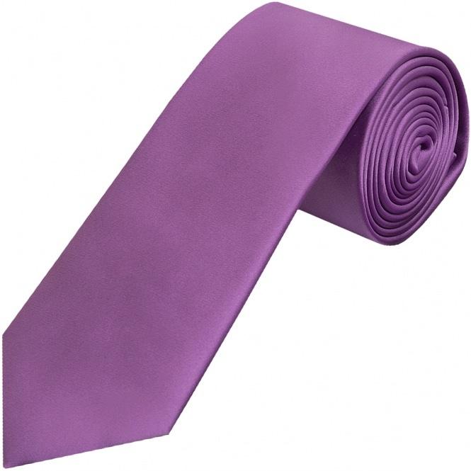 Cadbury Purple Classic Satin Tie