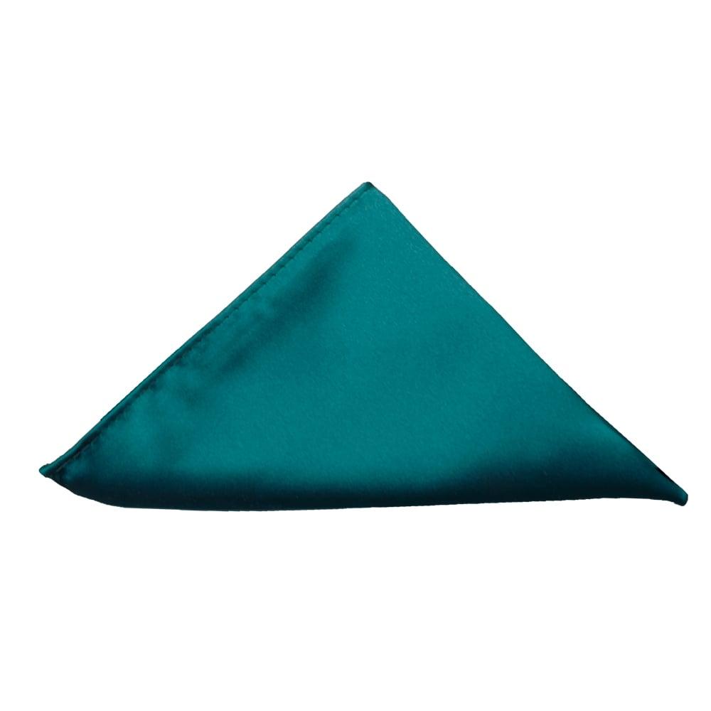 a0f521dd0bf3 Teal Green Satin Pocket Square | Mens pocket Square | Handkerchief