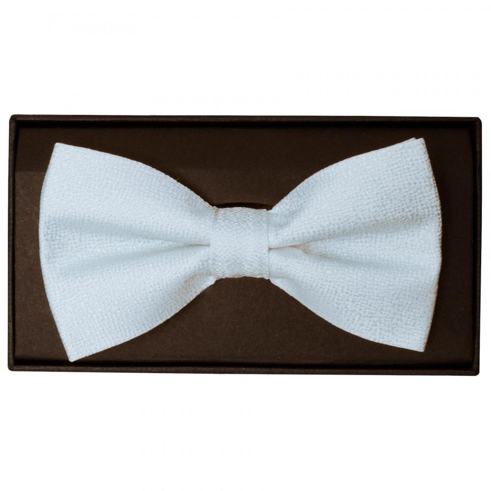 65624427274f Plain Light Blue Textured Silk Mens Bow Tie