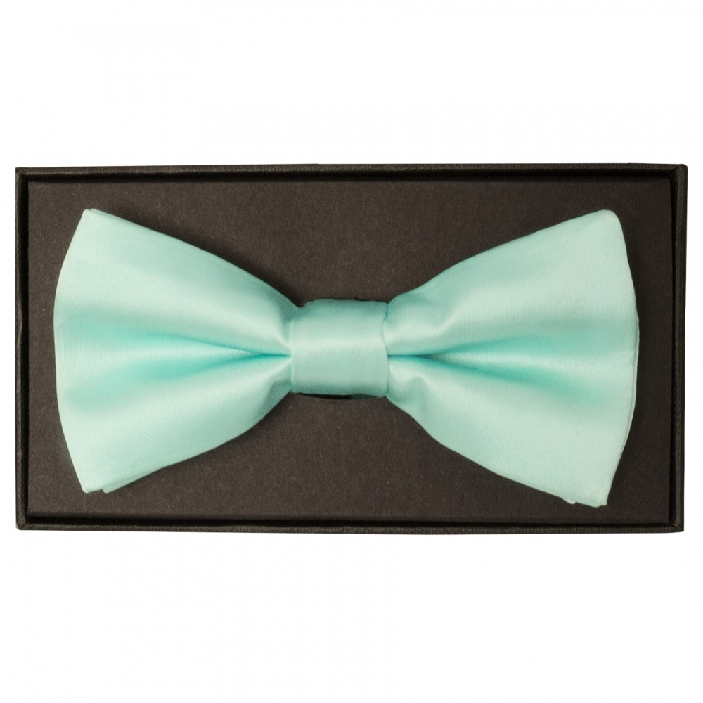 5d792884a79a Plain Mint Green Mens Bow Tie   Satin Bow Tie  Dickie Bow TiesRus