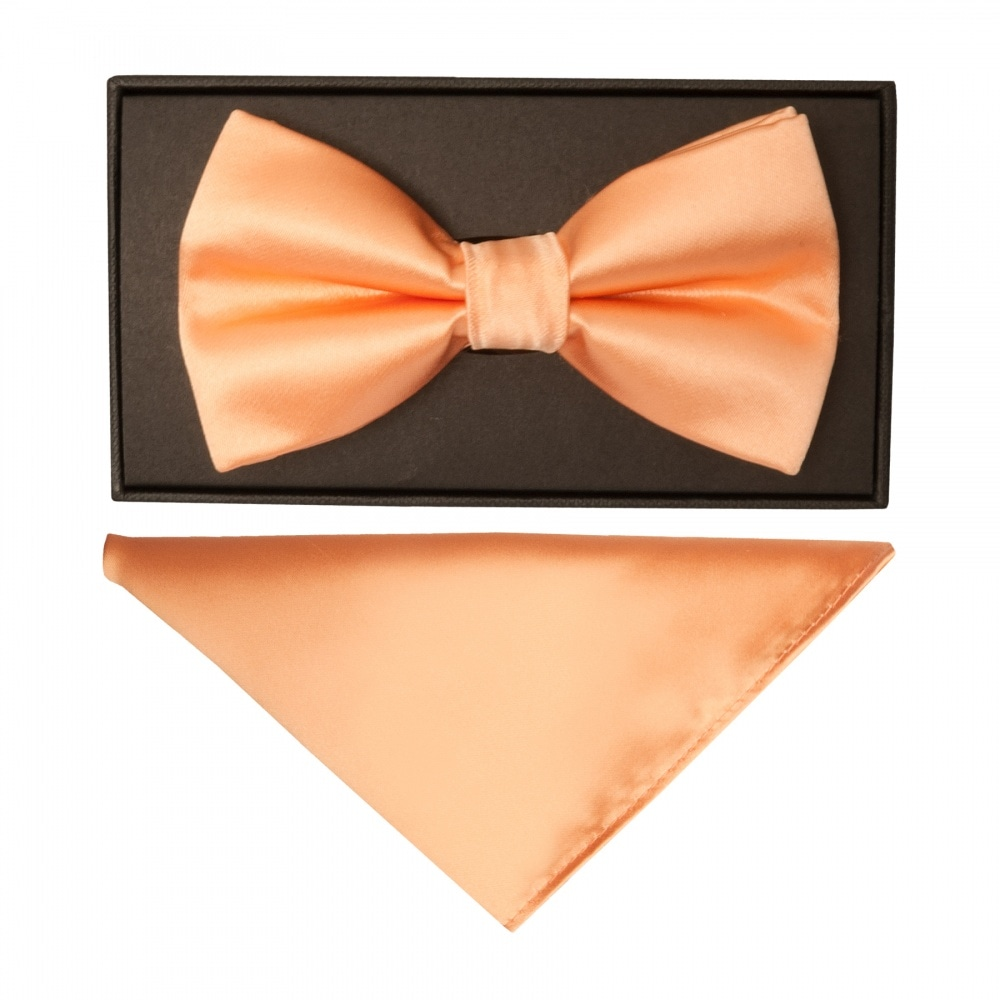 "Prom Boy/'s Satin 3/"" Classic Tie Bow Tie /& Pocket Handkerchief Set Wedding"