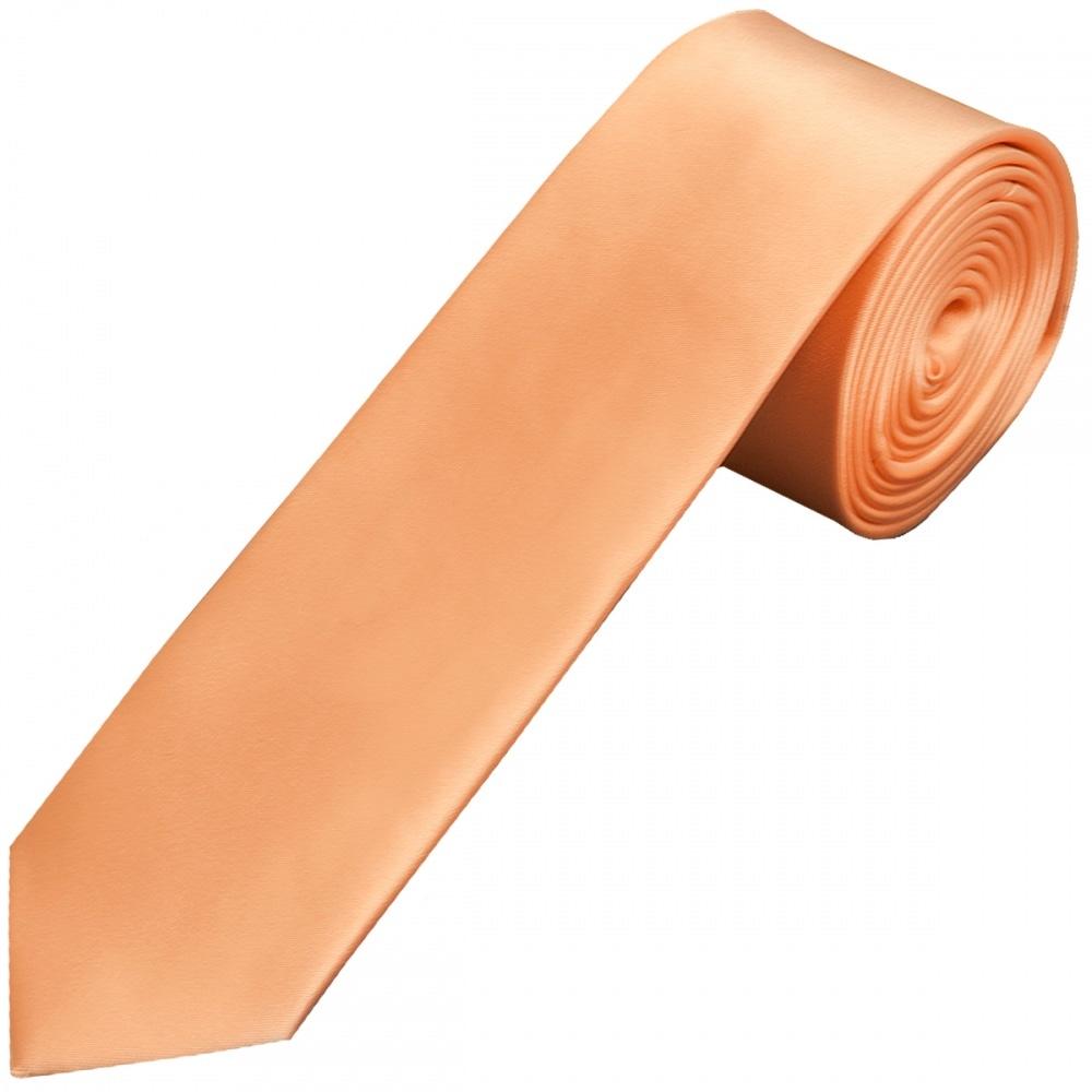 e3610fe0e4d6 Plain Peach Boys Satin Tie| Boys Satin Tie | Kids Wedding Tie Prom Tie