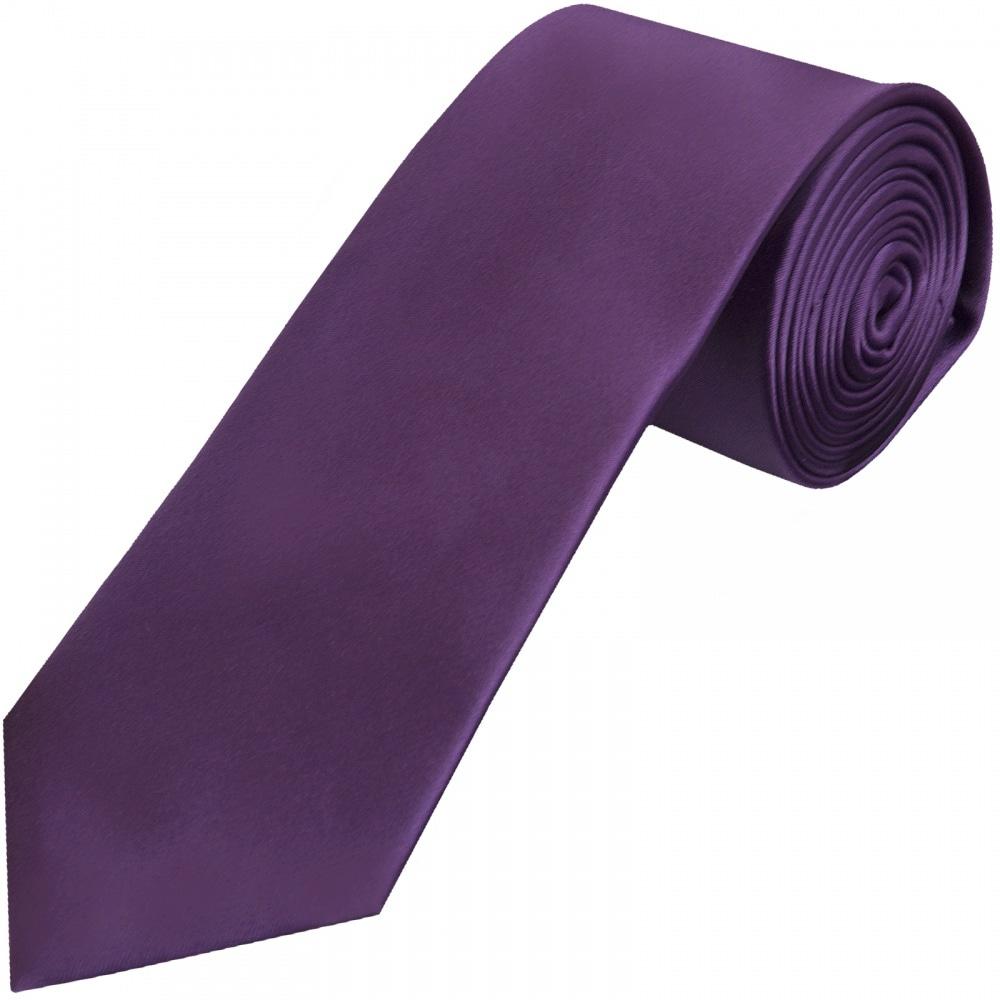 Mens Purple Classic Satin Tie