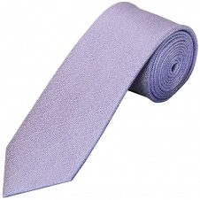 Plain Purple Textured Silk Classic Men's Tie