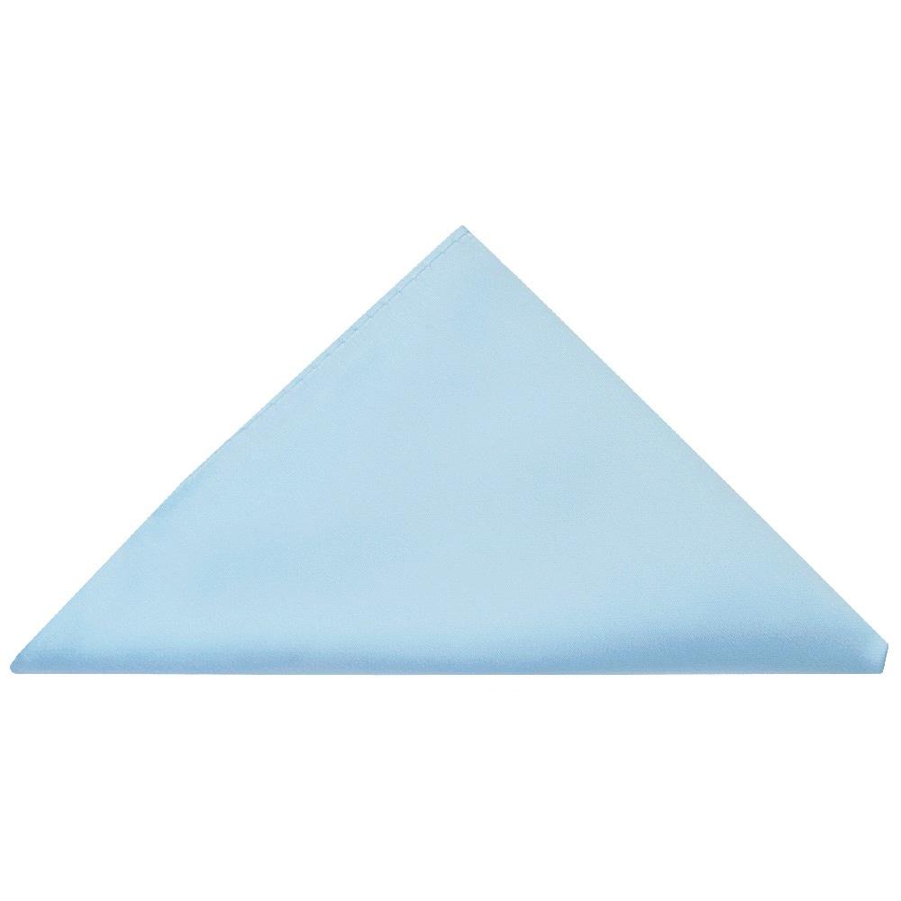 8b0c6b773f57 Plain Sky Blue Handmade Mens Bow Tie and Pocket Square Set