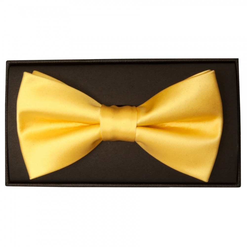 5dcca88c1cf1 Plain Yellow Gold Mens Bow Tie   Bow Tie   Dickie Bow Wedding Tie