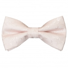 Pre Tied Blush Textured Floral Bow Tie Age 4-7