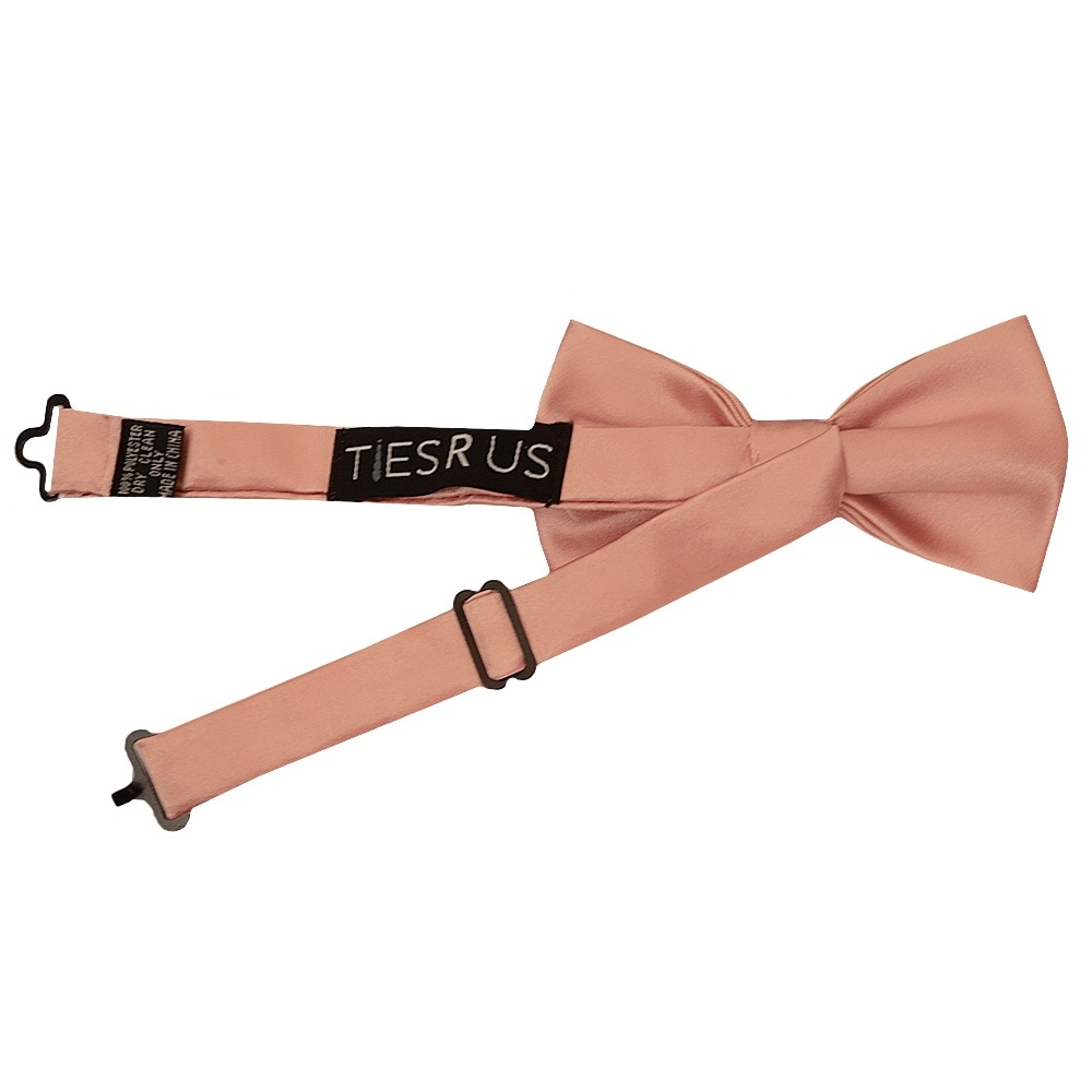 Handmade Pre Tied Rose Gold Satin Boys Bow Tie Age 8-11 Kids Tie Childrens Tie