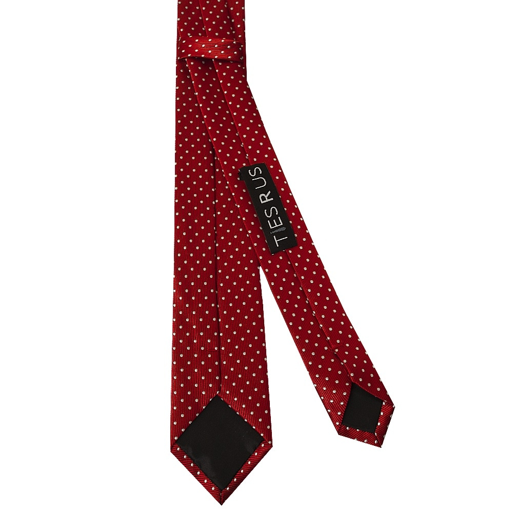 Mens Bow Tie Set Black and White Red Polka Dots with Pocket Square