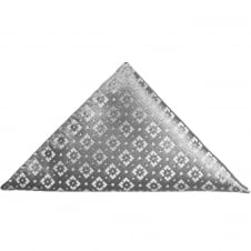 Silver Brochade Pocket Square