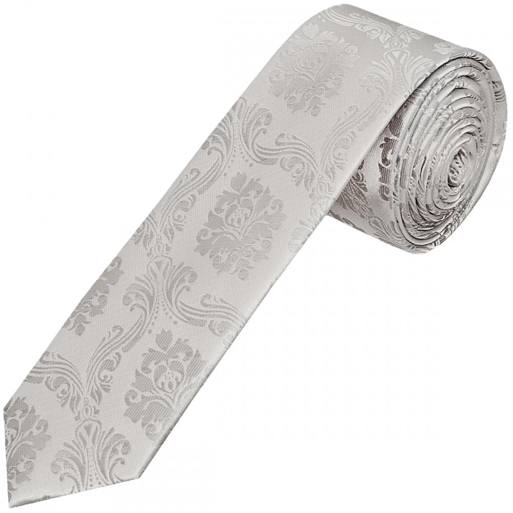 Silver paisley skinny tie skinny tie wedding tie slim thin tie silver paisley skinny men039 ccuart Image collections