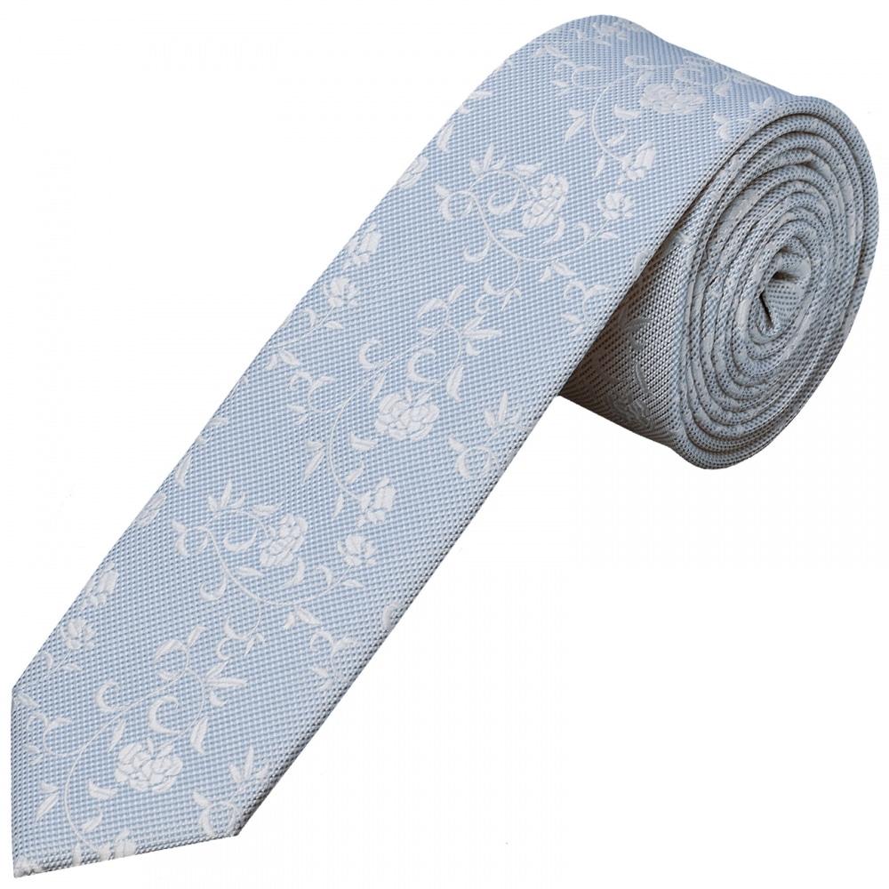 53c8c1c59621 Boys Sky Blue Floral Tie | Childrens Floral Tie | Kids Wedding Tie