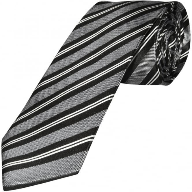 black and white striped classic s silk tie silk tie