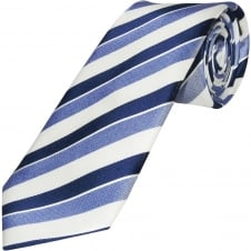 Blue Striped Hand Made Classic Men's Silk Tie