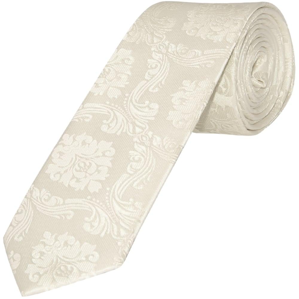 boys ivory paisley tie childrens paisley tie