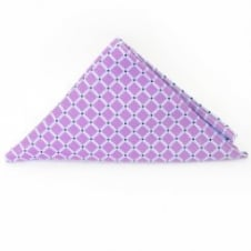 Lilac Squares Pocket Square