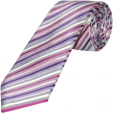 Pink Striped Hand Made Classic Men's Silk Tie