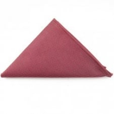 Red Semi Plan Pocket Square