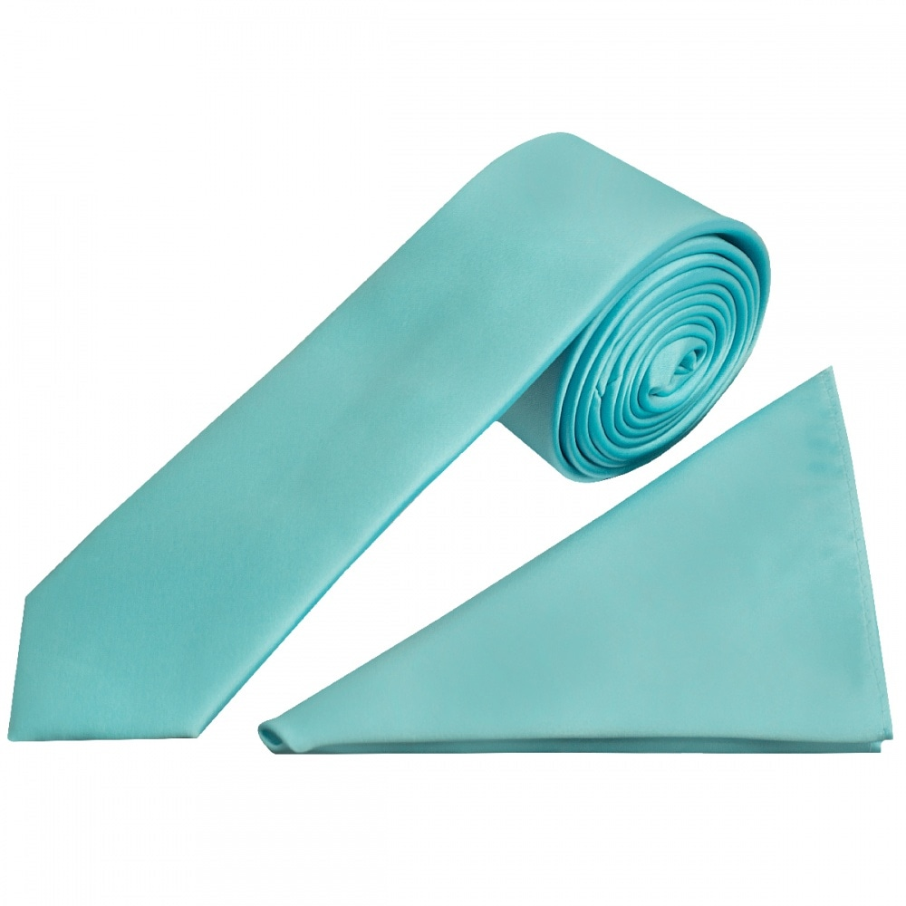 e0bc21b492820 Boys Tiffany Blue Satin Tie and Handkerchief | kids Tie and Hanky Set